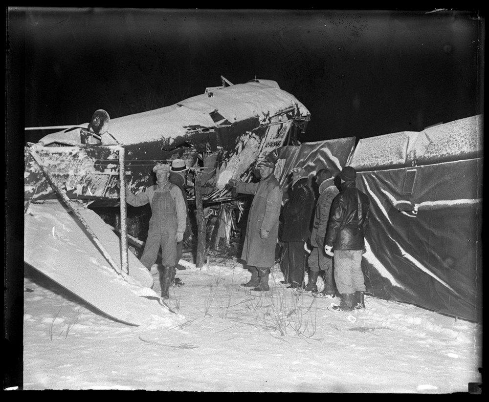 American Airways crash near Petersburg kills pilot and three passengers, March 7, 1934. File/The State Journal-Register