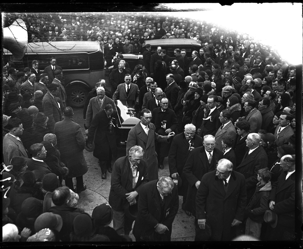 "Funeral for Mary Harris ""Mother"" Jones, labor leader and community activist at Mount Olive, Ill., December 8, 1930. File/The State Journal-Register"