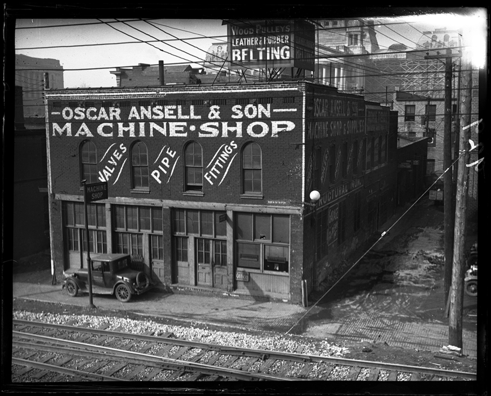 Oscar Ansell & Son Machine Shop, Alton Railroad (now Union Pacific) tracks in foreground, between Capitol Avenue and Monroe Street. This location is where the Illinois State Library is currently located. File/The State Journal-Register