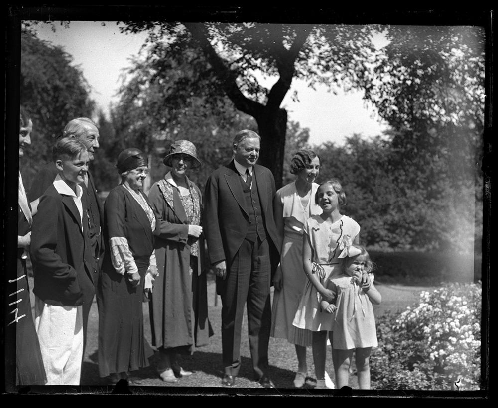 President Herbert Hoover's visit to Springfield for rededication of Lincoln's Tomb, June 17, 1931, at Executive Mansion reception with Illinois Gov. Louis Emmerson and family. File/The State Journal-Register