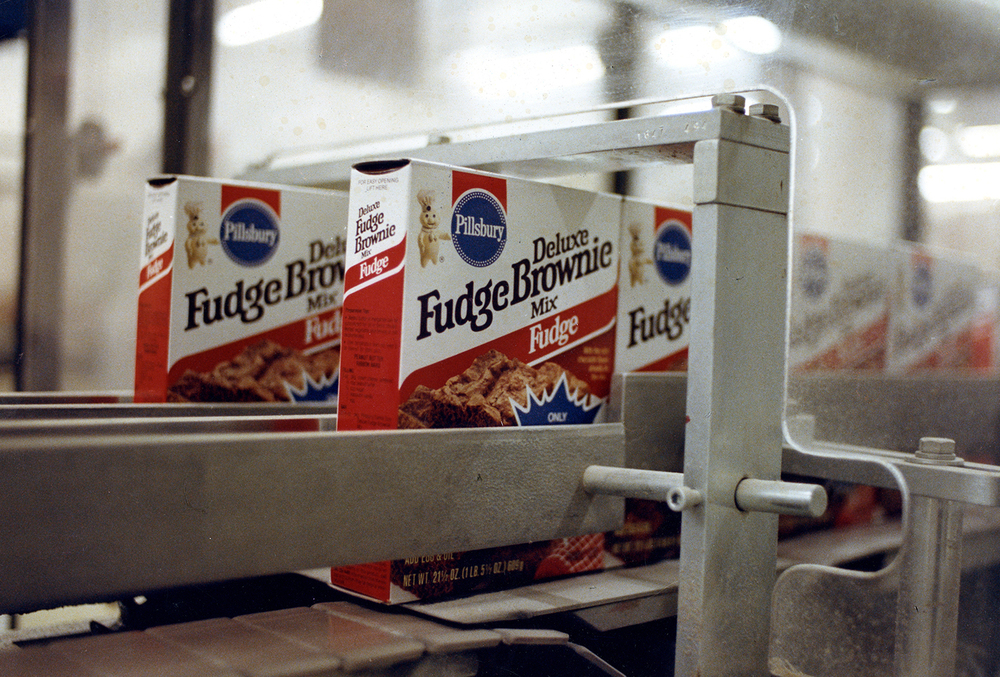 Pillsbury Mills, Feb. 1, 1989. A package of brownie mix moves down a production line at the Springfield facility. File/The State Journal-Register