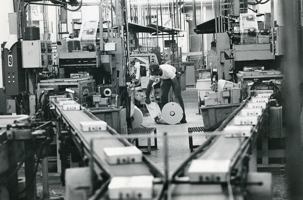 Pillsbury Mills, Sept. 26, 1984. Cake mixes are packaged in the grocery goods division. File/The State Journal-Register