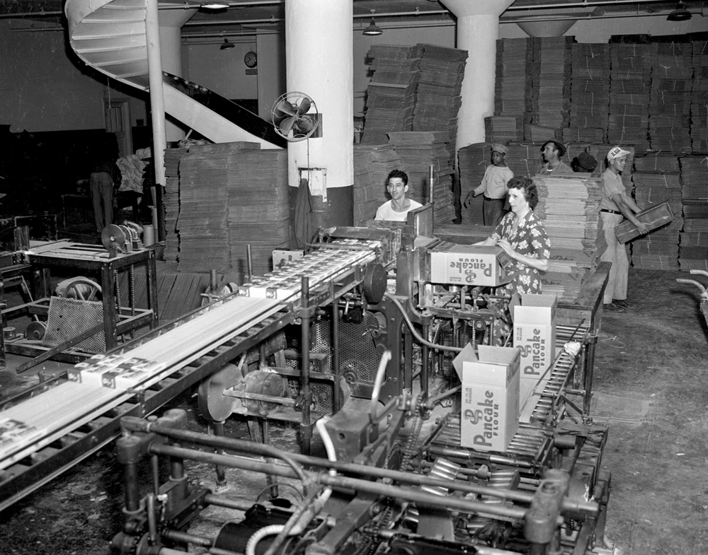 Pillsbury Mill packaging line, September 14, 1945. File/The State Journal-Register
