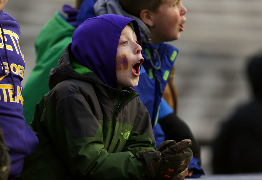 Williamsville fans cheer on their team against Wilmington during the Class 3A football championship game at Memorial Stadium Friday, Nov. 28, 2014. Ted Schurter/The State Journal-Register