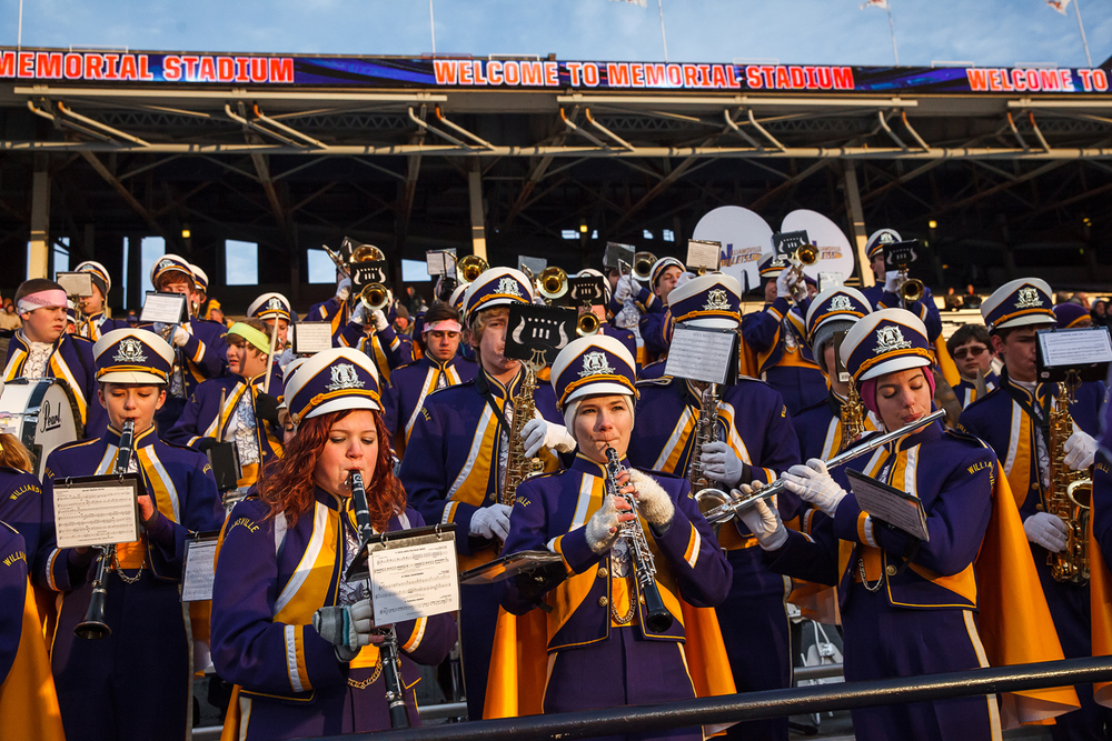 The Williamsville band performs prior the Bullets taking on Wilmington in the IHSA Class 3A state championship game at Memorial Stadium, Friday, Nov. 28, 2014, in Champaign, Ill. Justin L. Fowler/The State Journal-Register