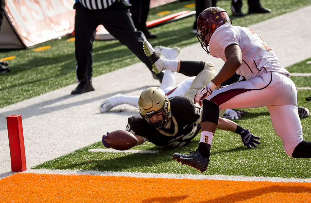 Sacred Heart-Griffin's Sam Sergent (28) is stopped just short of the goal line on a rush by Lombard Montini in the second half during the IHSA Class 5A state championship game at Memorial Stadium, Saturday, Nov. 29, 2014, in Champaign, Ill. Justin L. Fowler/The State Journal-Register