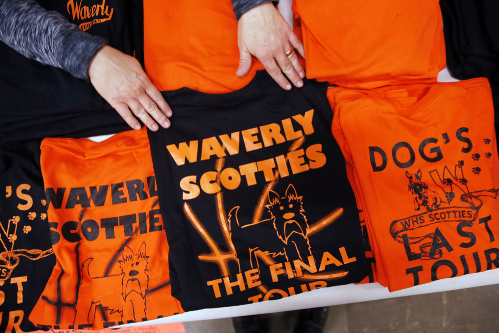 Commemorative fund-raising shirts were available for sale Friday, Dec. 5, 2014 at Waverly High School. The shirts commemorate the last independent Waverly basketball season before the Scotties consolidate with Franklin.Ted Schurter/The State Journal-Register