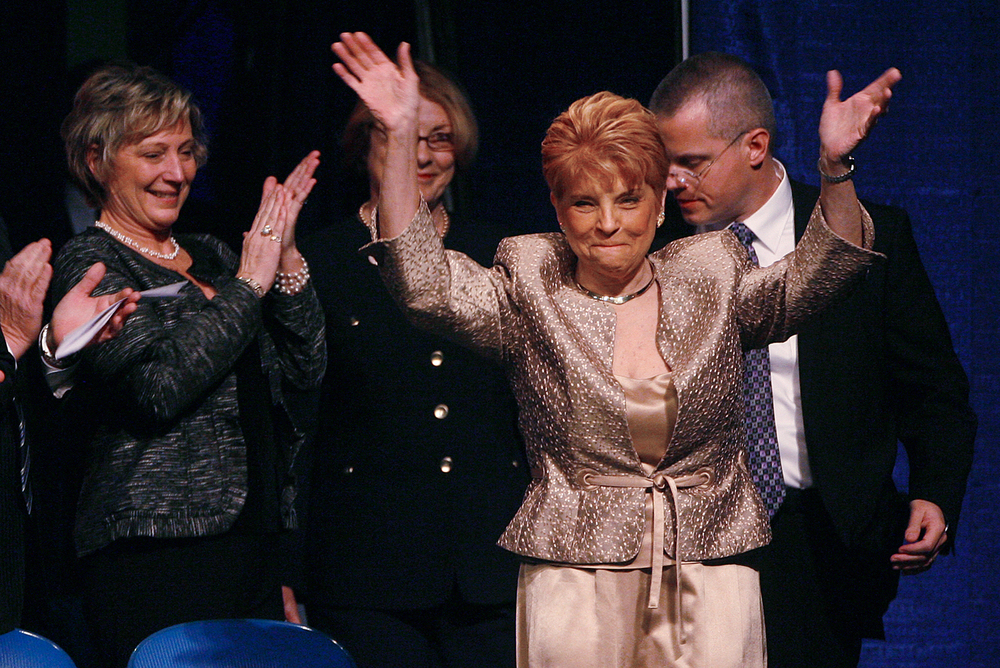 Illinois Comptroller-Elect Judy Baar Topinka was introduced at the start of the 2011 inaugural ceremonies at the Prairie Capital Convention Center. File/The State Journal-Register
