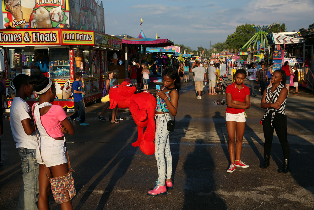 The carnival midway at the Illinois State Fair Aug. 11, 2014. Rich Saal/The State Journal-Register
