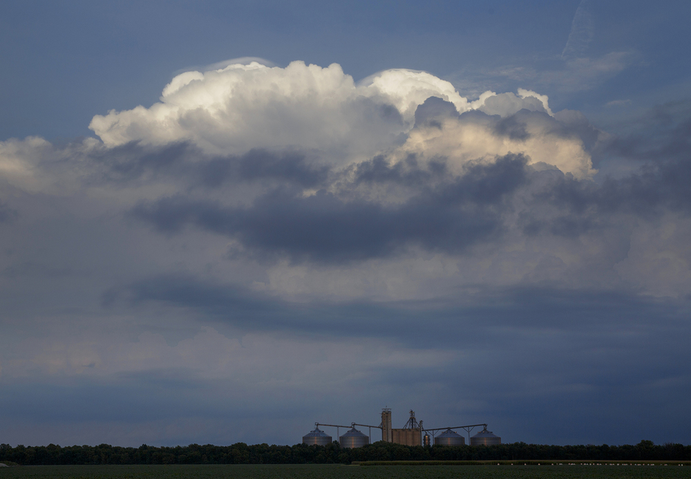 A storm builds over Sangamon County Saturday, Aug. 30, 2014 in a view from Curran. Rich Saal/The State Journal-Register
