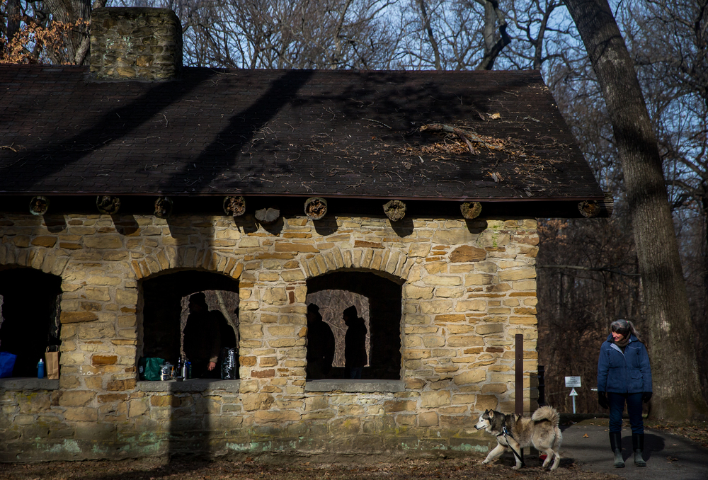 The Sangamon Valley Group of the Sierra Club's Stone Soup is prepared in the wood fireplaces located in the Stone Shelter at Carpenter Park, Thursday, Jan. 1, 2015, in Springfield, Ill. Justin L. Fowler/The State Journal-Register