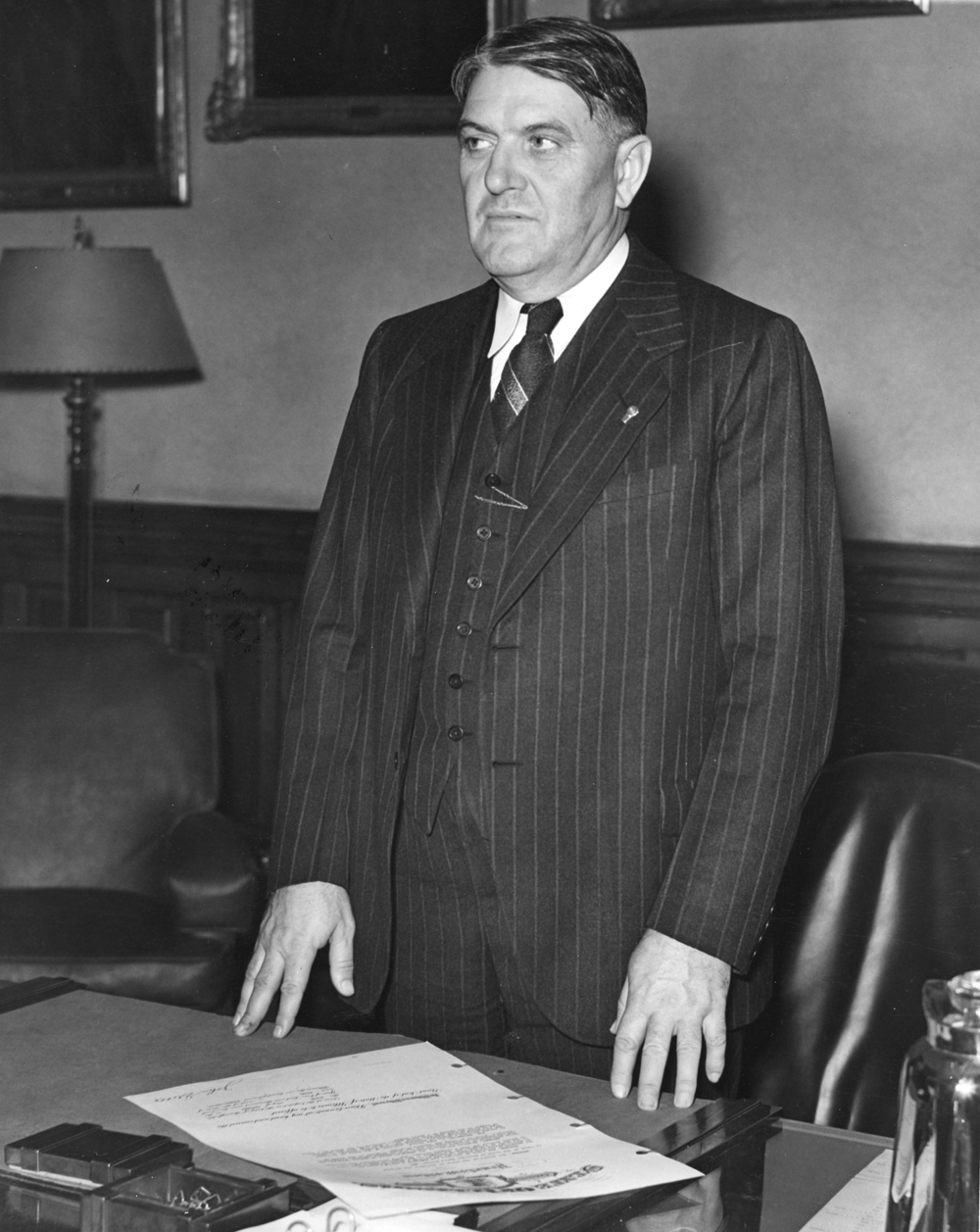 Gov. John Stelle after being sworn in Oct. 7, 1940 following the death of Gov. Henry Horner. File/The State Journal-Register