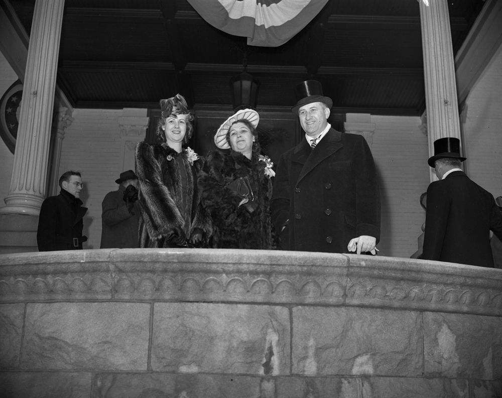 Gov.-elect Dwight Green and family at the Executive Mansion on inauguration day Jan. 13, 1941. File/The State Journal-Register