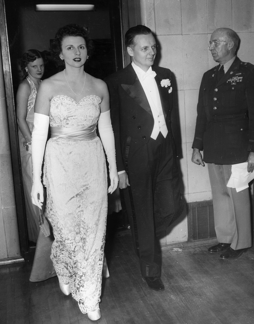 Gov. William Stratton and wife Shirley at inaugural ball, Jan. 12, 1953 at the Illinois State Armory. File/The State Journal-Register