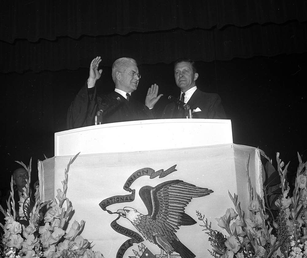 Inauguration of Gov. Otto Kerner Jan. 9, 1969 at the Illinois State Armory. File/The State Journal-Register
