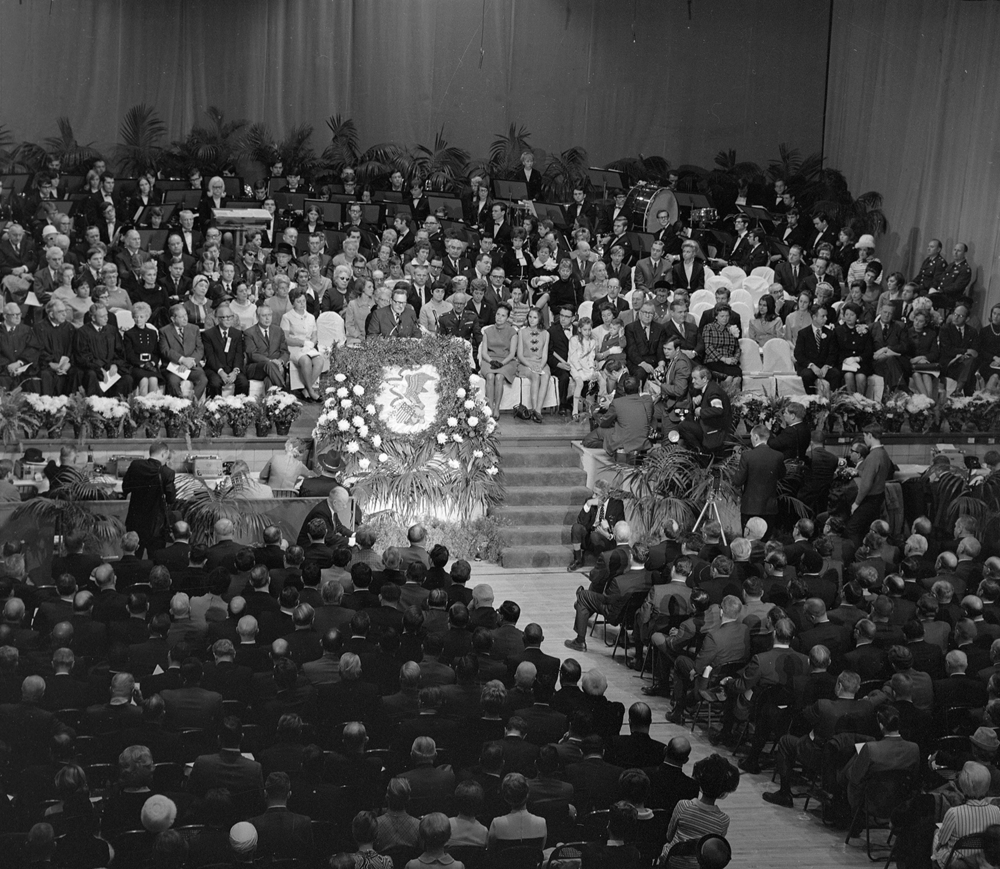 Gov. Richard Ogilvie inauguration at the Illinois State Armory, Jan. 13, 1969. File/The State Journal-Register