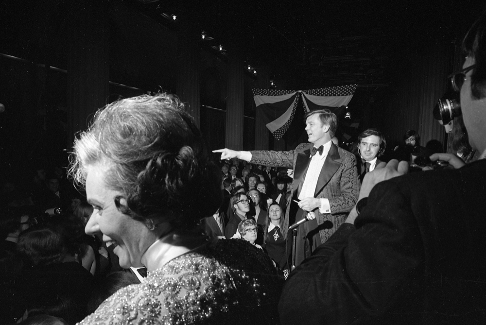 Gov. Dan Walker and his wife Roberta were greeted Jan 8, 1973 by revelers at the Centennial (Howlett) Building's Hall of Flags, one of the three inaugural balls. File/The State Journal-Register