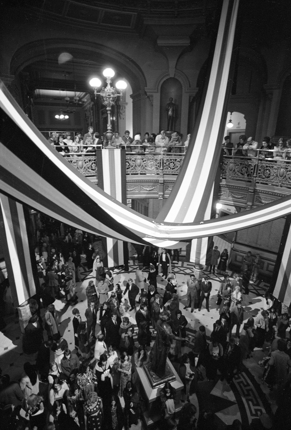 One of three inaugural balls for Gov. Dan Walker was held in the rotunda of the State Capitol. The others were in the Centennial Building's Hall of Flags and the Illinois State Armory. File/The State Journal-Register