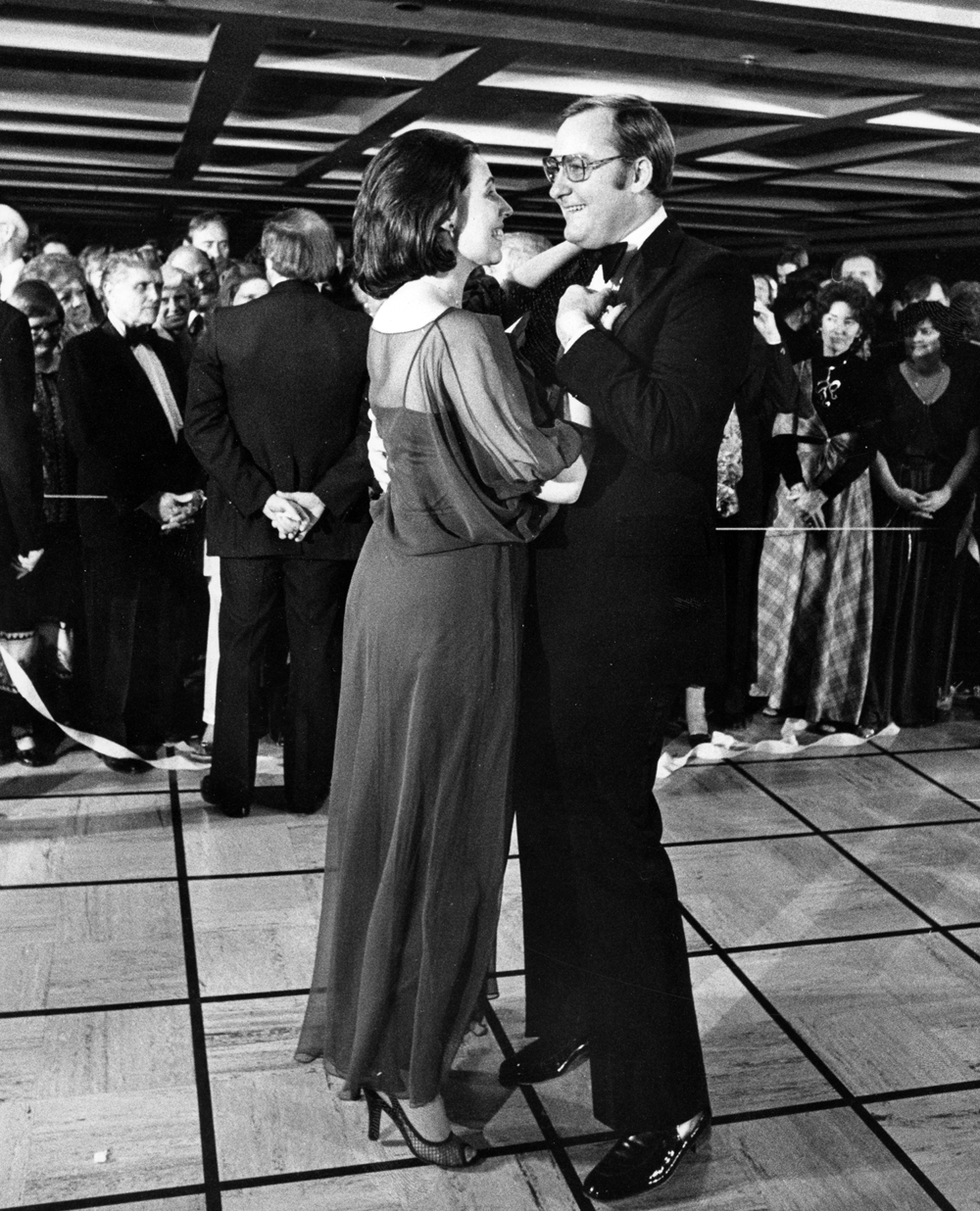 Gov. James Thompson and wife Jayne at inaugural ball, Jan. 8, 1979, the beginning of his second term in office. File/The State Journal-Register