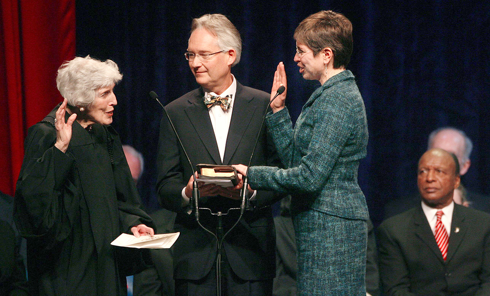 Sheila Simon is sworn in as Lt. Governor Jan. 10, 2011 at the Prairie Capital Convention Center. File/The State Journal-Register