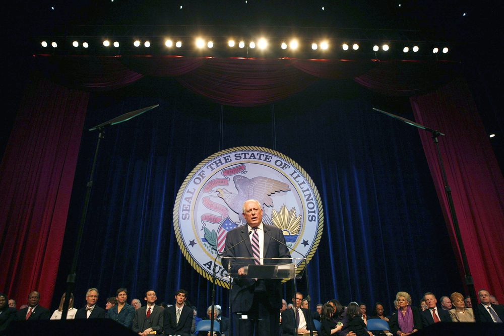 Gov. Pat Quinn delivers his inaugural address Jan. 10, 2011 at the Prairie Capital Convention Center. File/The State Journal-Register