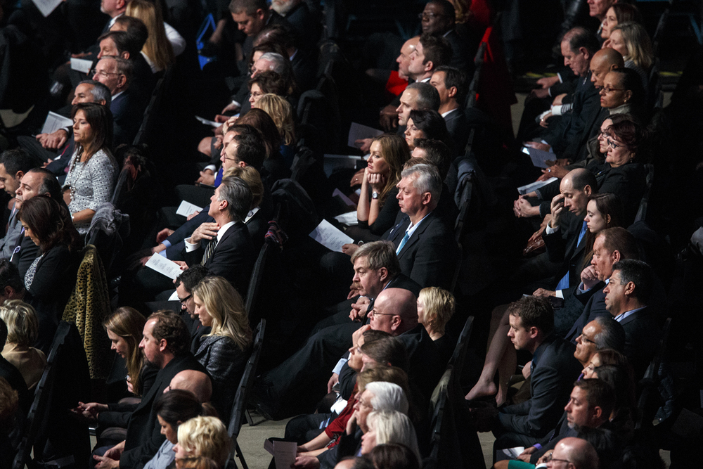 The audience listen to another inaugural speech at the Prairie Capital Convention Center Monday, Jan. 12, 2015. Ted Schurter/The State Journal-Register