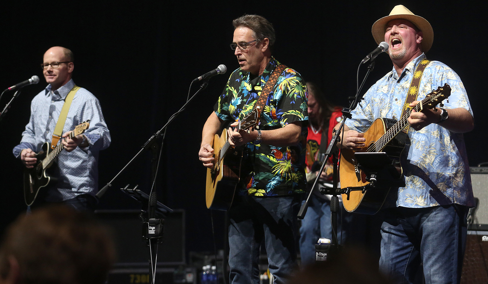 The Boat Drink Caucus performs Monday night. From right to left 