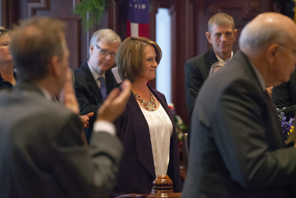 Christine Rodogno was elected Republican Senate leader at the inauguration of the Illinois Senate at the Capitol Jan. 14, 2015. Rich Saal/The State Journal-Register