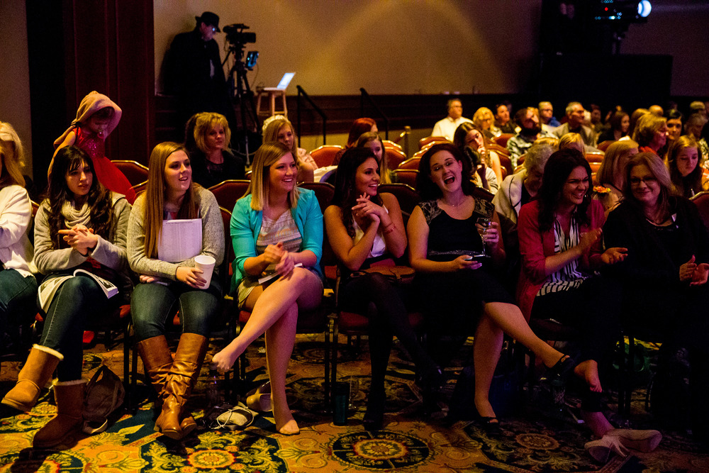 Attendees cheer on a contestant in the Communication Skills Competition during the 2015 Miss Illinois County Fair Queen Pageant at the Crowne Plaza, Sunday, Jan. 18, 2015, in Springfield, Ill. Justin L. Fowler/The State Journal-Register