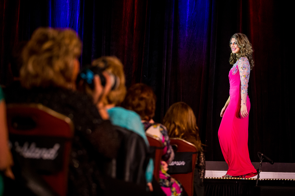 Miss Morgan County Fair Queen 2014, Brianna Klein, of Murrayville, Ill., competes in the Stage Presence Competition during the 2015 Miss Illinois County Fair Queen Pageant at the Crowne Plaza, Sunday, Jan. 18, 2015, in Springfield, Ill. Justin L. Fowler/The State Journal-Register