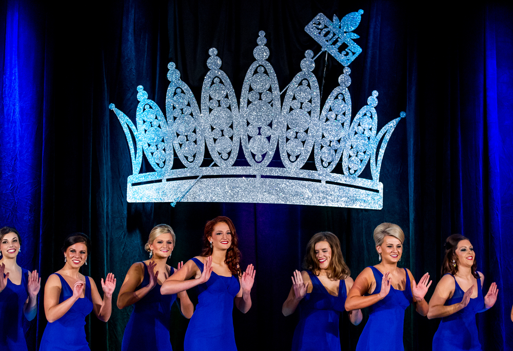 "Contestants in the 2015 Miss Illinois County Fair Queen Pageant perform a production called ""We are Tonight"" during the opening of the annual pageant at the Crowne Plaza, Sunday, Jan. 18, 2015, in Springfield, Ill. Justin L. Fowler/The State Journal-Register"