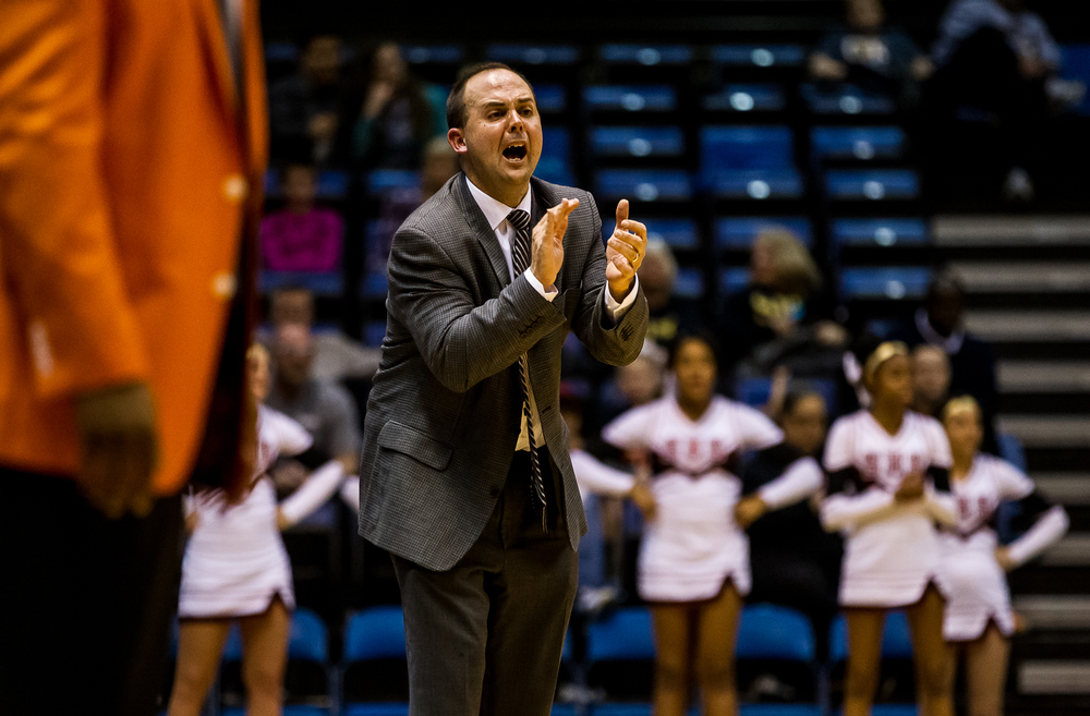Springfield boys basketball head coach Matt Reed calls out instructions to his team as they take on Lanphier in the second half during game two of the 2015 Boys City Tournament at the Prairie Capital Convention Center, Friday, Jan. 23, 2015, in Springfield, Ill. Justin L. Fowler/The State Journal-Register