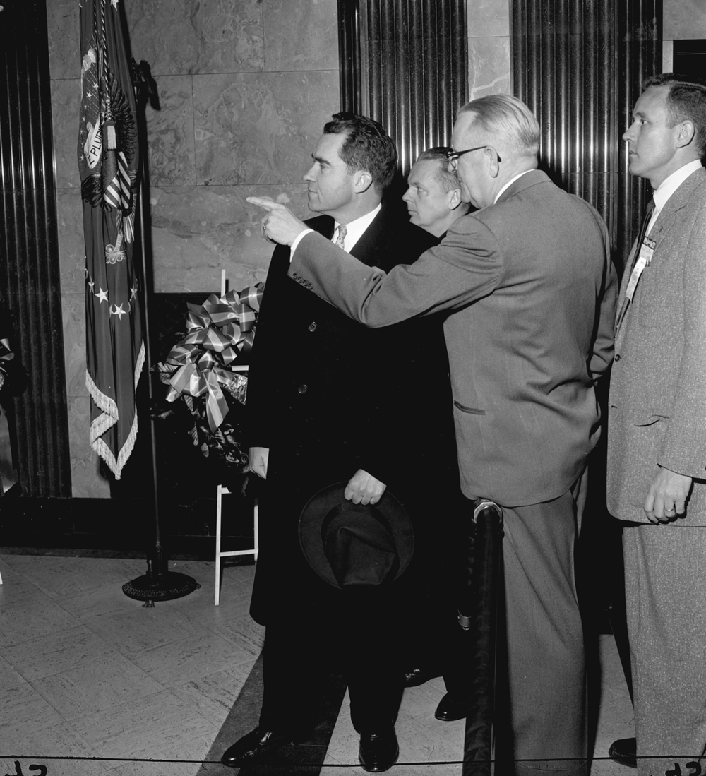 Vice President Richard Nixon, Jan. 14, 1956. File/The State Journal-Register