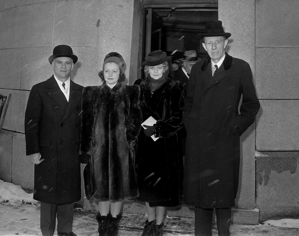 Gov. Dwight Green, left, his wife Mabel and Lady Halifax with her husband, Lord Halifax, British Ambassador to the United States, wreath laying, Lincoln's Tomb, Feb. 12, 1942. File/The State Journal-Register