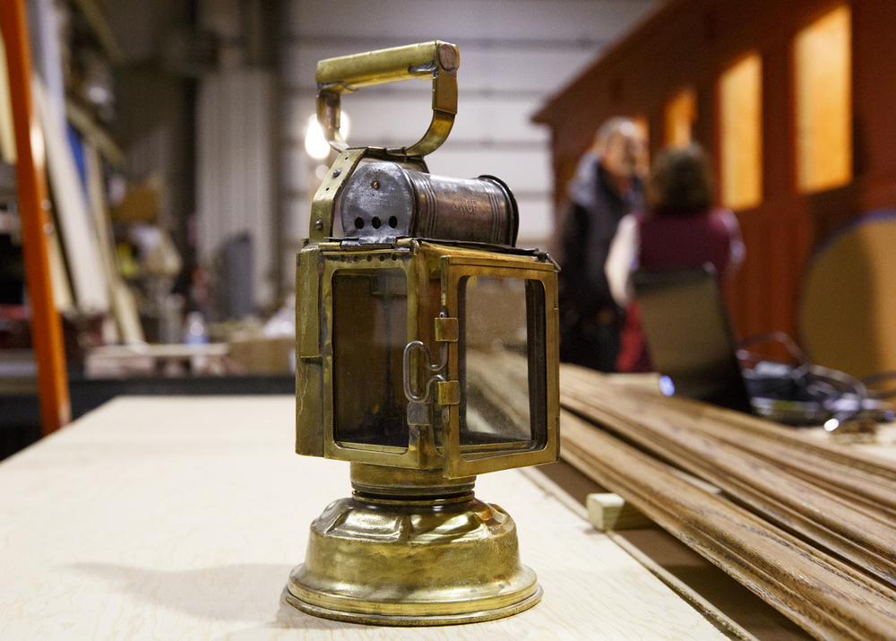 A brass kerosene lantern from the 1860s is being loaned to the project. Rich Saal/The State Journal-Register
