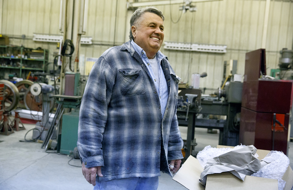 Dave Kloke, a construction company owner in Elgin, is behind the construction of the Lincoln funeral car and a full-size steam locomotive to pull it. Rich Saal/The State Journal-Register