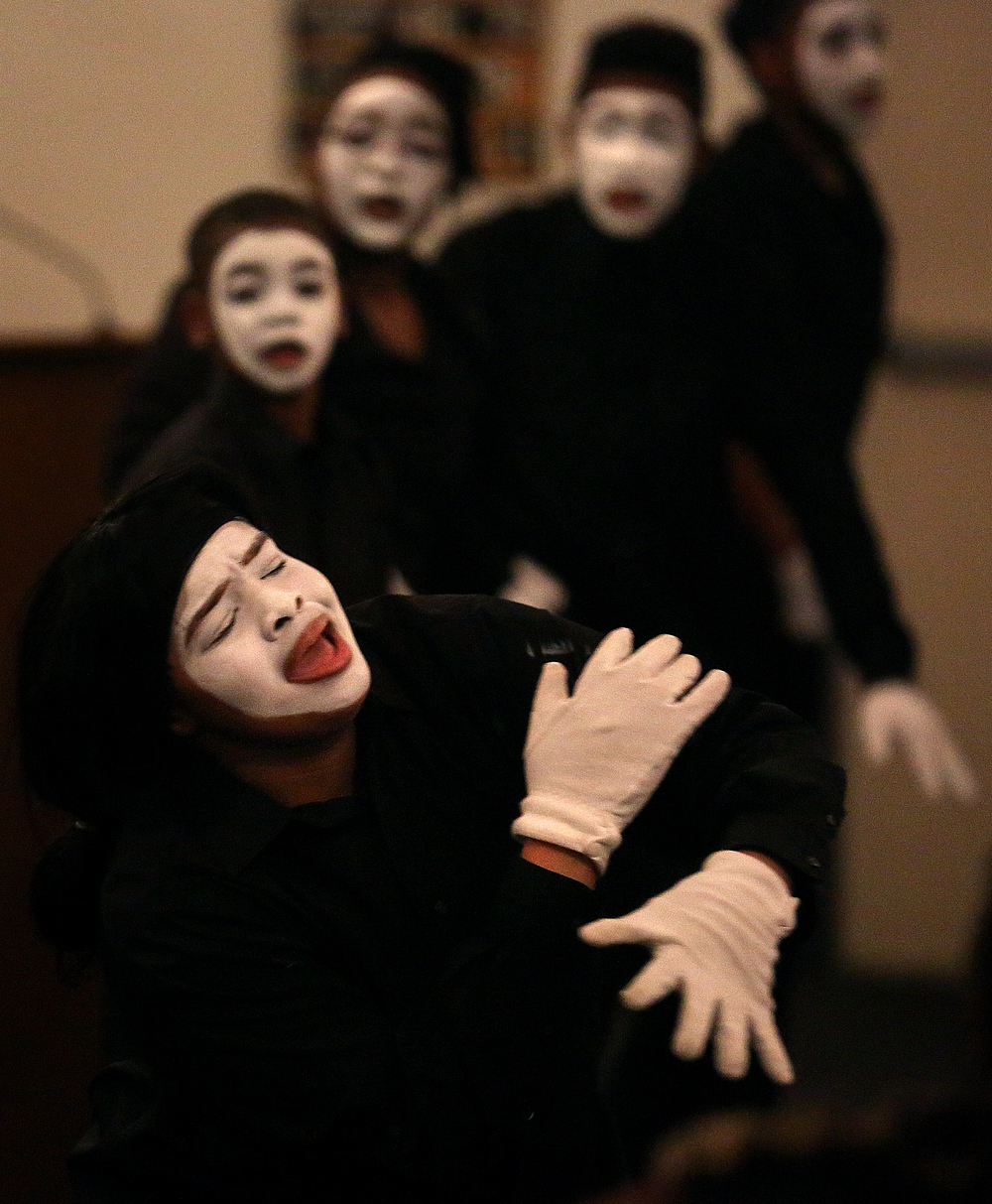 Members of the mime ministry made up of Region II youth members perform. David Spencer/The State Journal-Register