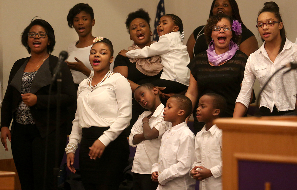 Members of the Wood River youth choir sing Wednesday night. David Spencer/The State Journal-Register