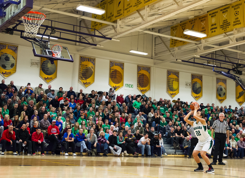 Athens' JJ Penrod (22) shoots a set of free throws after a intentional foul against Litchfield in the second half during the Class 2A Williamsville sectional title game, Thursday, Feb. 19, 2015, in Williamsville, Ill. Justin L. Fowler/The State Journal-Register