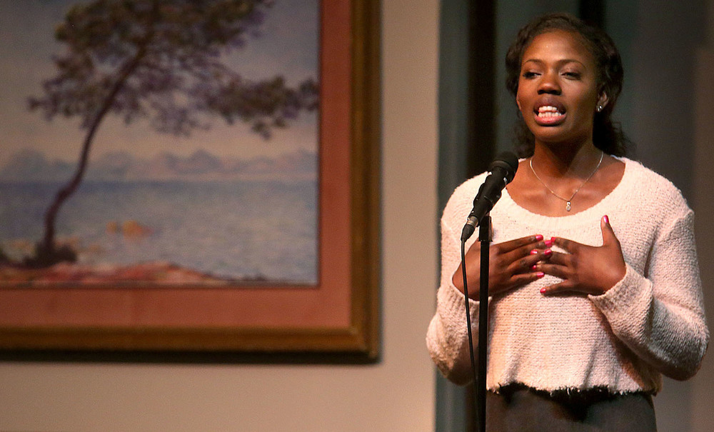Eventual regional champion Annabelle Emuze of Southeast High 
