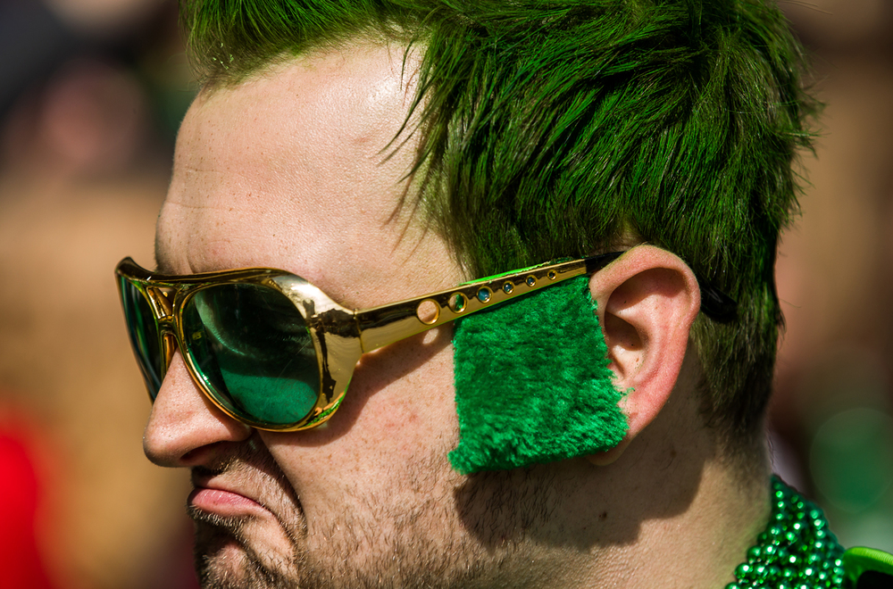 Jeremie Bailey went all out with the festive sideburns as he promoted his Lincoln's Legends Podcast during the 2015 Saint Patrick's Day Parade, Saturday, March 14, 2015, in Springfield, Ill. Justin L. Fowler/The State Journal-Register