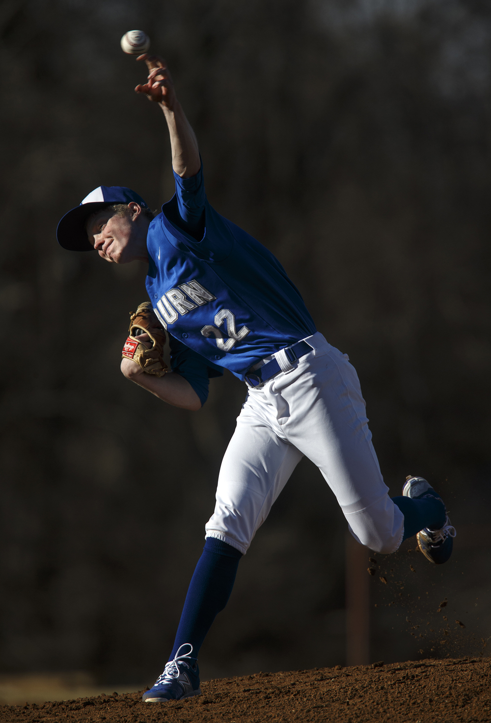 Auburn's Tristan Weaver pitches against Lanphier at Lincoln Land Community College Monday, March 16, 2015. Ted Schurter/The State Journal-Register
