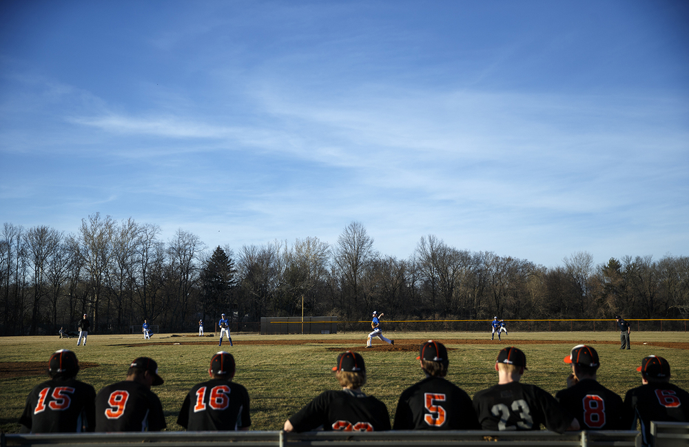 Auburn defeated Lanphier 10-3 at Lincoln Land Community College Monday, March 16, 2015. Ted Schurter/The State Journal-Register