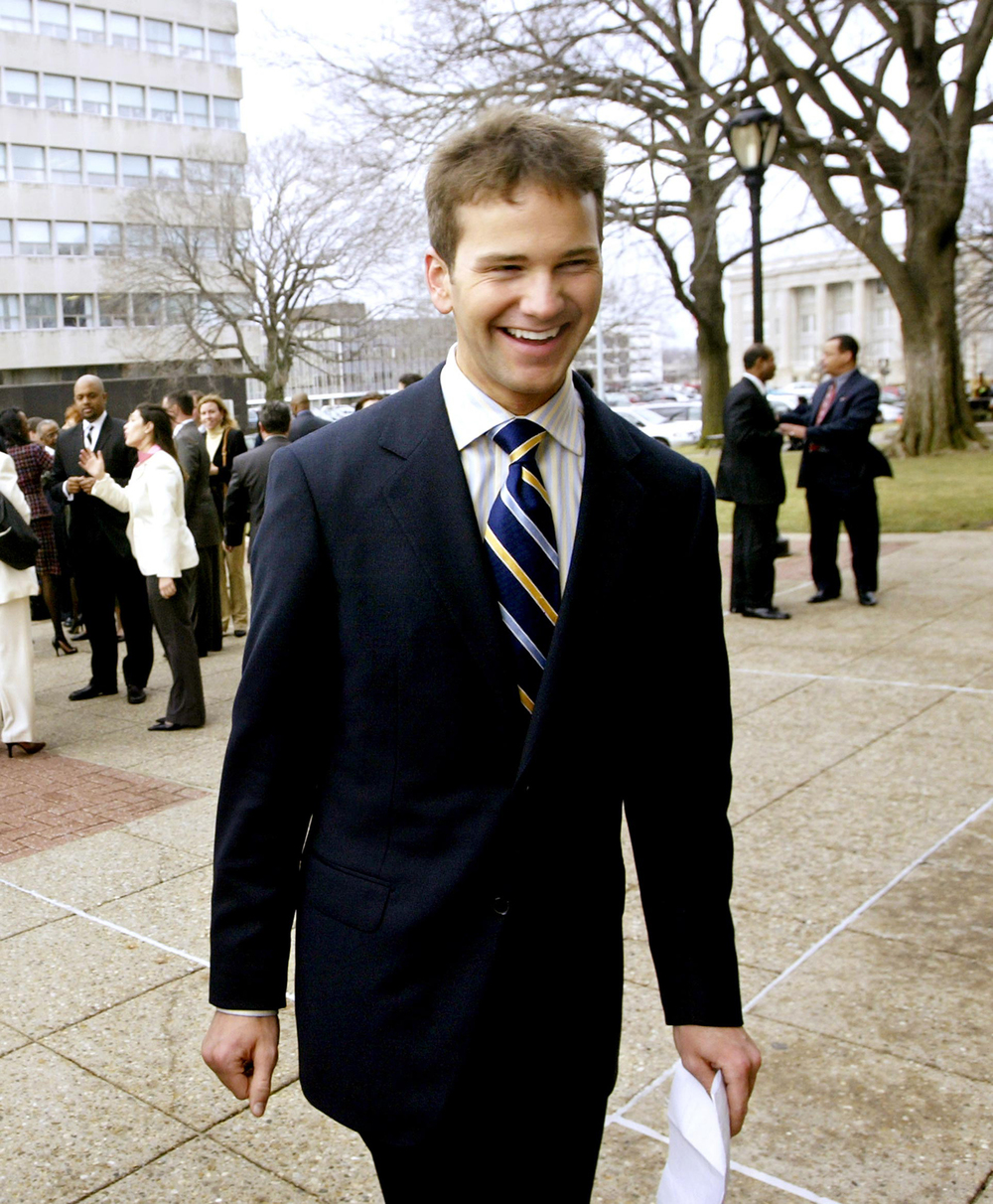 State Rep. Aaron Schock, R-Peoria, walks into the Capitol building in January 2005 for his inauguration into the Illinois House of Representatives. File/The State Journal-Register