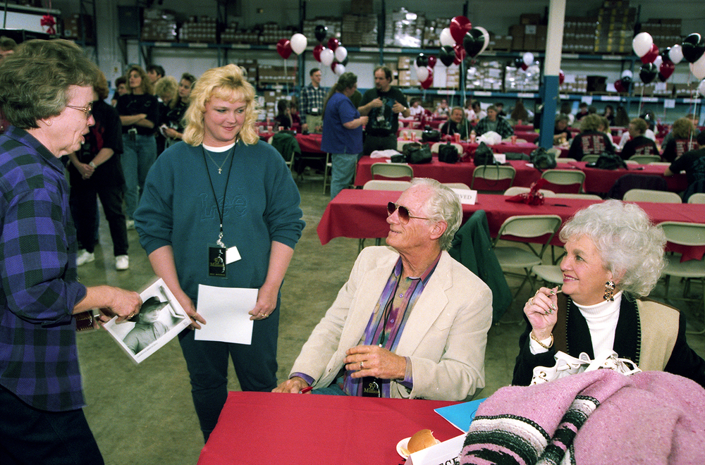 Colleen and Raymond Brooks, Garth's parents, were at the EMI plant in March 1995 and visited with employees. File/The State Journal-Register