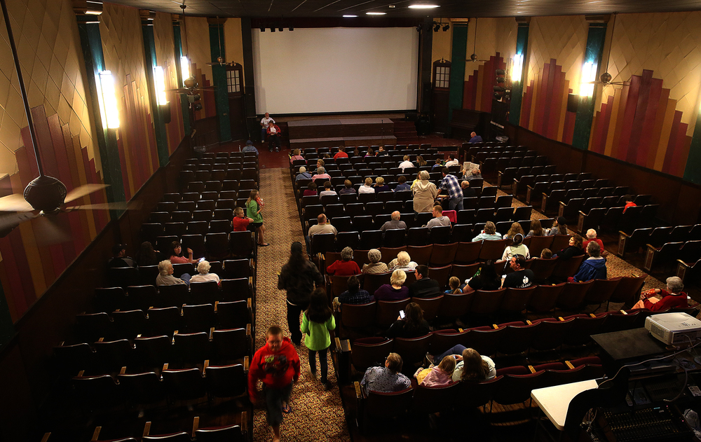 A view from the projection area showing the rear of the auditorium. David Spencer/The State Journal-Register