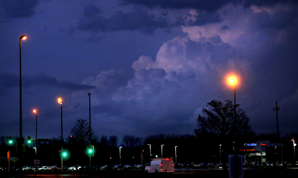 Moody skies south of Springfield Thursday evening, April 9, 2015. A Tornado Watch was in effect for Sangamon county until 11pm. David Spencer/The State Journal-Register