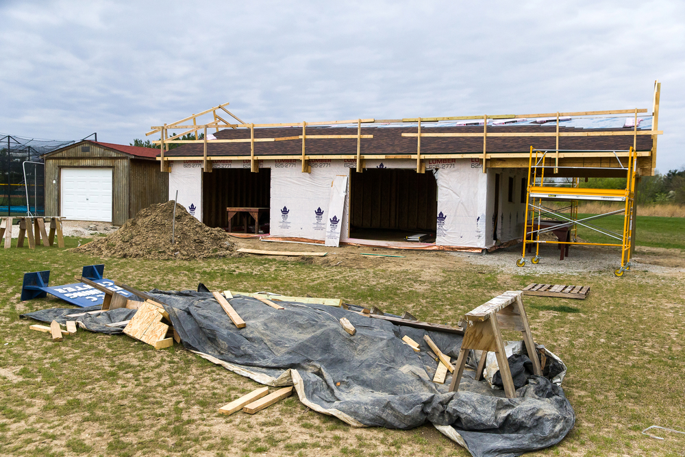 A new building under construction for the Lincoln Land Community College Bird Banding Station will allow for even more research with ability to work inside and have more instruments on hand to study the birds, Friday, April 24, 2015, in Springfield, Ill. Justin L. Fowler/The State Journal-Register