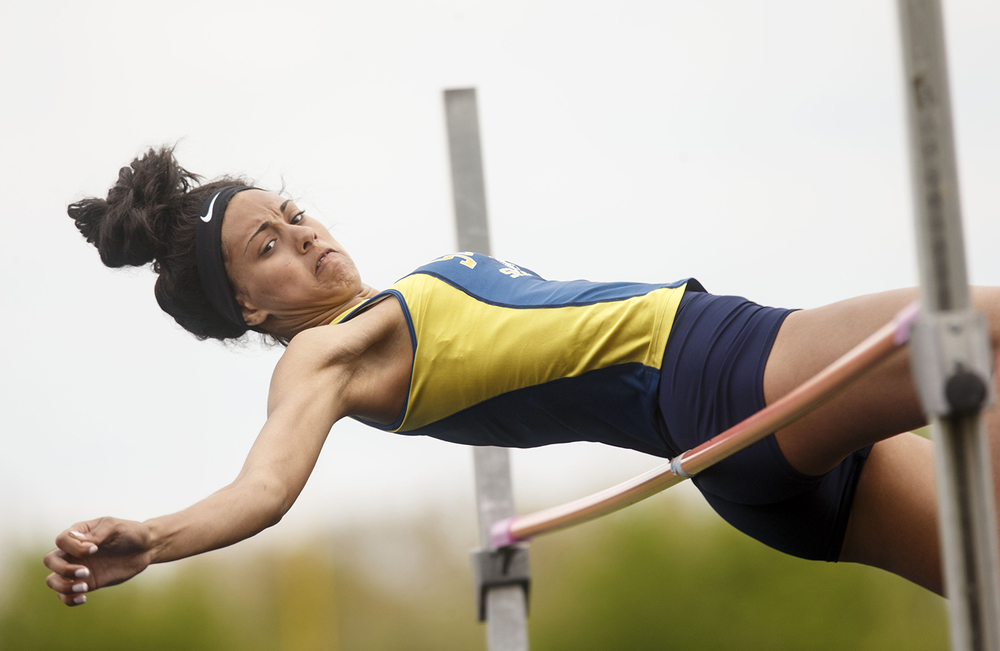 Southeast's Lunden Henry competes in the high jump during the 2015 Class AA Girls City meet at Southeast High School Wednesday, April 29, 2015. Ted Schurter/The State Journal-Register