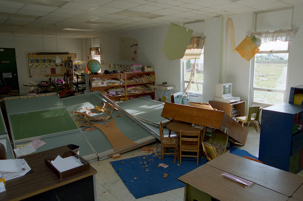 Cantrall Elementary School was heavily damaged.